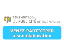 RÈGLEMENT LOCAL DE PUBLICITÉ INTERCOMMUNAL